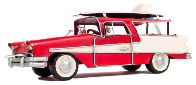 Old Modern Handicrafts® Fords Woody-Look Country Squire W// Kayak