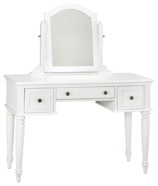 Angela White Vanity Set: Bermuda 2-Piece Vanity And Mirror Set, Espresso