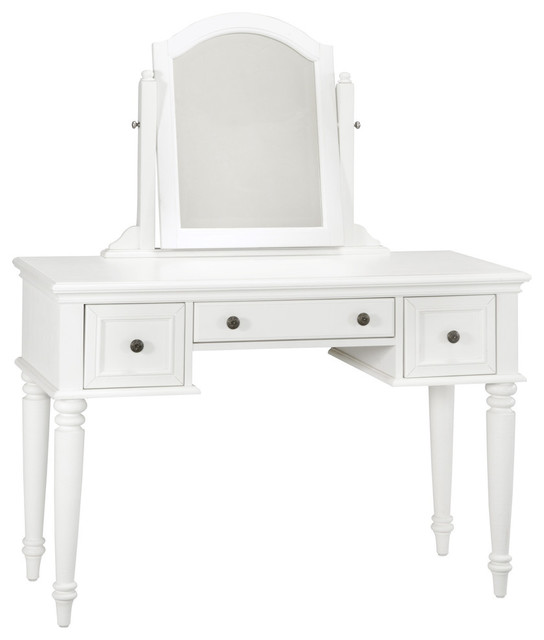 Home Styles Furniture Bermuda Vanity u0026 Mirror Espresso Finish - Bedroom u0026 Makeup Vanities : Houzz