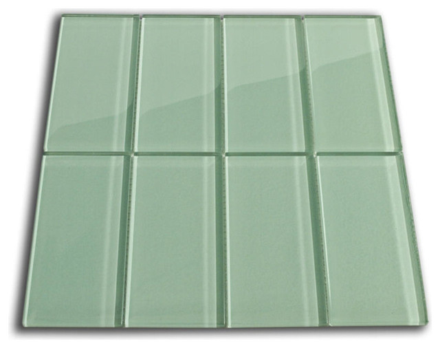 Cnk Tile Sage Green Glass Subway Tile View In Your