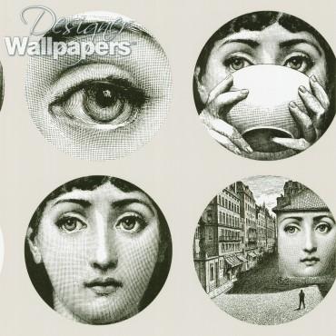 Faces fornasetti wallpaper cole sons no longer carries - Fornasetti faces wallpaper ...