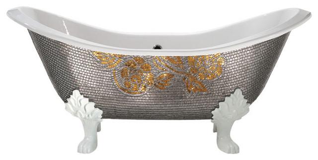 Iris Cast Iron Claw Foot Bathtub Contemporary Bathtubs By