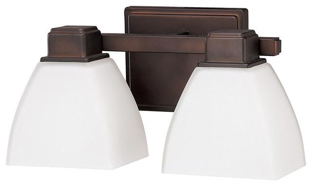 Capital Lighting 8512BB-216 2-Light Vanity Fixture, Burnished Bronze