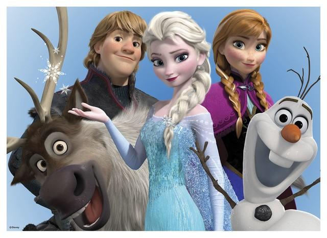 Frozen toile imprim e 70x50cm motif personnages de la - Personnage reine des neiges ...