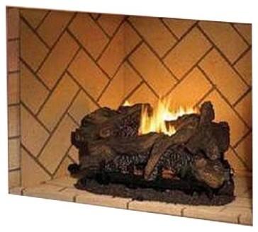 Superior 36 Quot Vf Masonry Gas Firebox With Red Herringbone