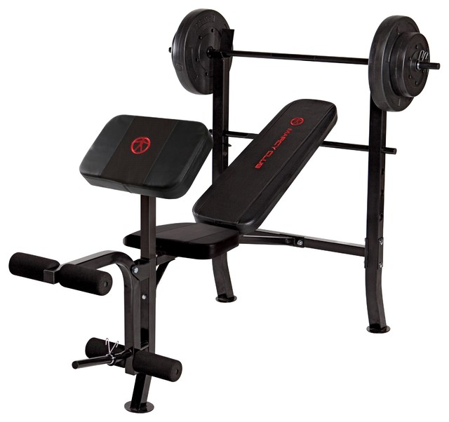 Marcy Opp Bench And 80 Lb Weight Set Home Gym Equipment Houzz
