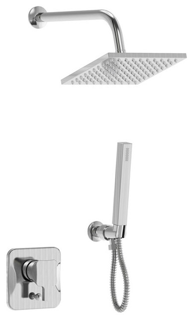 Single Handle Shower Unit With Hand Held Sprayer, Honourable Series by Parmir Water Systems, Inc.