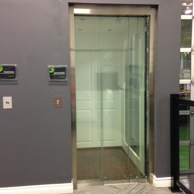 Residential Home Elevator frameless Glass