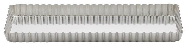 "Gobel 2478 Heavy Tinned Rectangular Quiche Pan, 13-3/4""x4-1/4""."