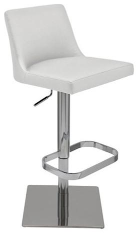 rome naugahyde adjustable barcounter stool white