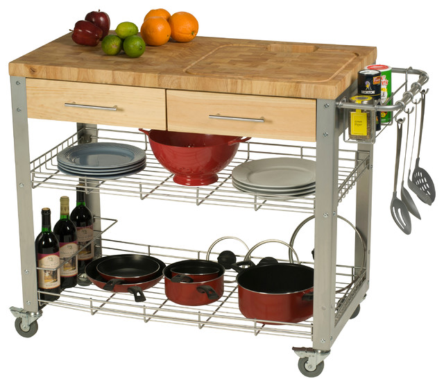 Cute Contemporary Kitchen Islands And Kitchen Carts by Chris u Chris