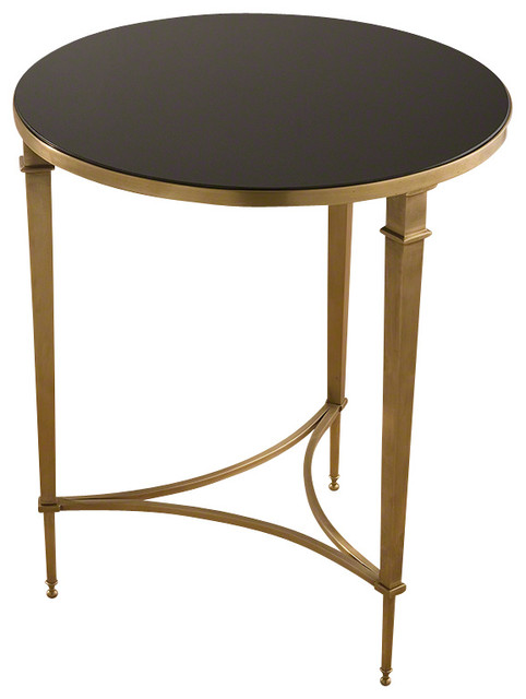 Global Views Round French Square Leg Table Transitional Side Tables And End Tables By