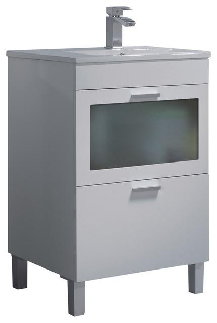 AMK 600 Bathroom Vanity Unit, 60x45 cm, White