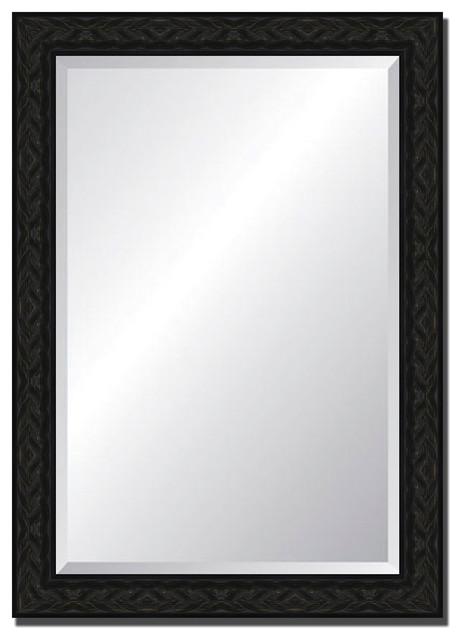 Wall Mirror with Black Celtic Knot Frame 30x42 Traditional