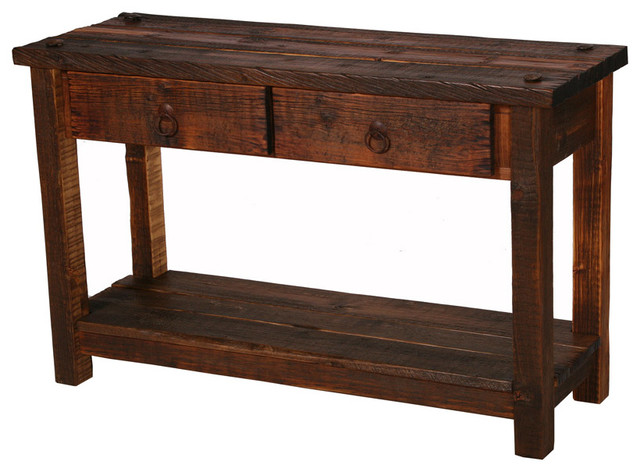 Rustic Heritage 2 Drawer Sofa Table Rustic Console