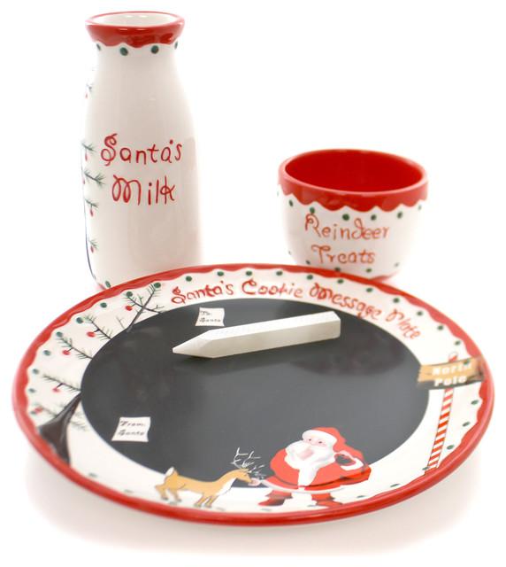 Tabletop Santa\u0027s Message Plate Christmas Set traditional-holiday-dinnerware  sc 1 st  Houzz & Tabletop Santa\u0027s Message Plate Christmas Set - Traditional - Holiday ...