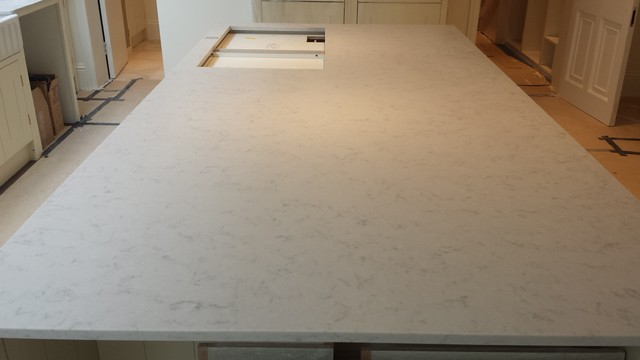 Chiswick Residence In Silestone Lagoon Suede Quartz Traditional London By MKW Surfaces