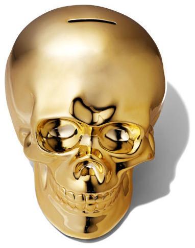 Golden Skull Money Bank
