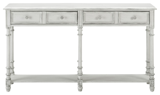 2 Drawer Tall Hall Console Table