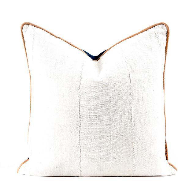 The Kura African Mudcloth Accent Pillow.