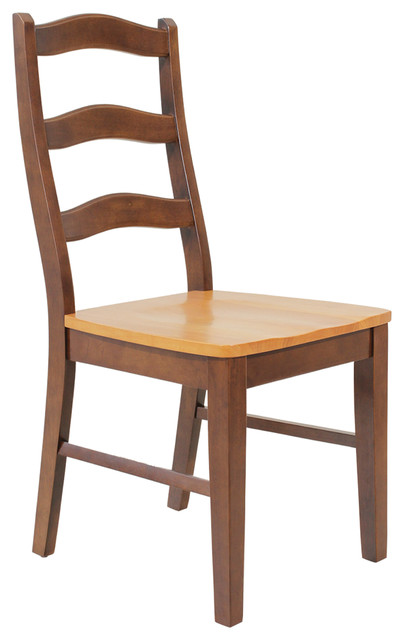 Four sturdy dining chair espresso and cinamon modern dining chairs by ttp furnish - Sturdy dining room chairs ...