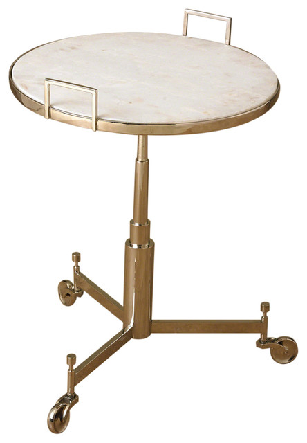Global Views Trolley Table Bronze Industrial Side Tables And End Tables By Hudson Home Decor