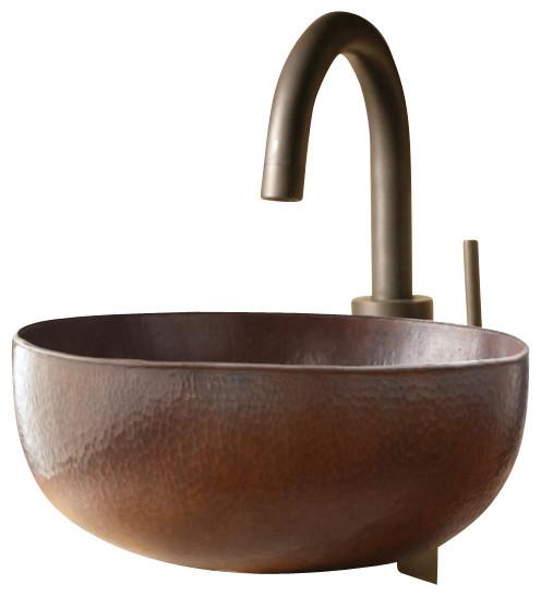 Shop houzz native trails antique copper vessel bathroom Antique bathroom vanity with vessel sink