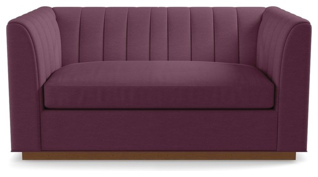 Nora Apartment Size Sleeper Sofa Innerspring Mattress Amethyst