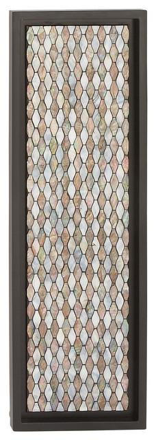 Samine Wood And Shell Wall Panel. -1