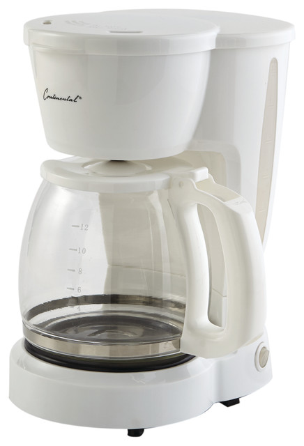 Coffee Maker, 12-Cup Capacity, White.