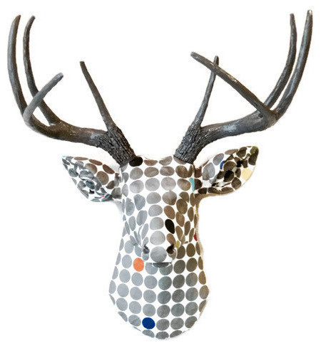 Deer With Gray Antlers Wall Decor
