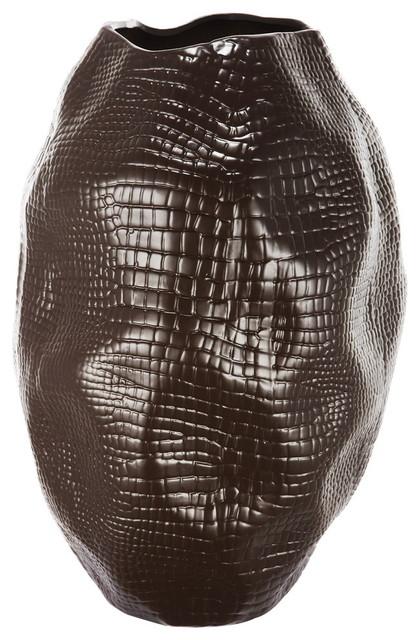 """Jose Carlos Ceramic Vase, 9.5""""x9.5""""x14"""""""