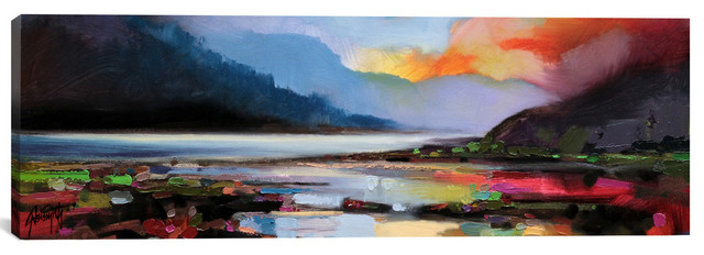 """ethereal Light"" By Scott Naismith, 20""x60""."