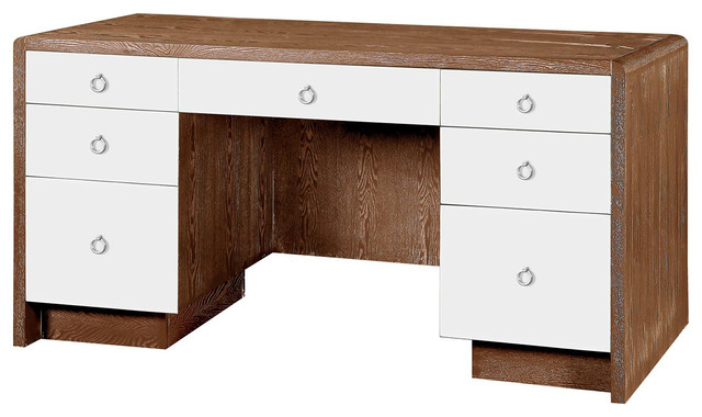 Bungalow 5 nicole desk in medium brown contemporary for Bungalow 5 desk