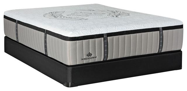 "Crown Imperial Crest 15"" King Low Profile Luxury Plush Hybrid Mattress Set."