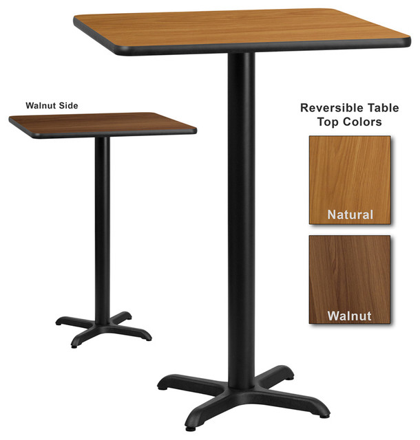 Flash Furniture 30 Inch Square Bar Table With Reversible Laminate Top