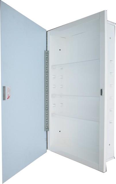 Swing Door Recessed Medicine Cabinet.