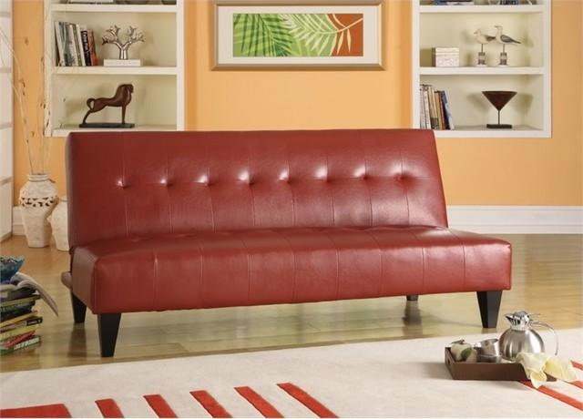 Acme Conrad Sleeper Sofa, Red.