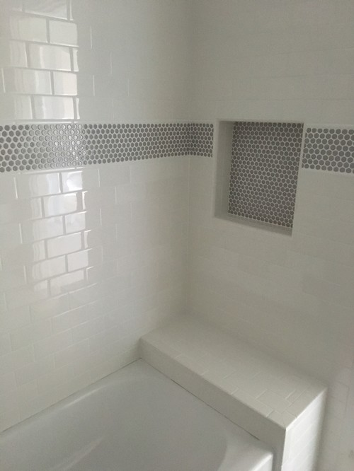 Shower Curtain On Shower Tub With A Bench I M Afraid Of
