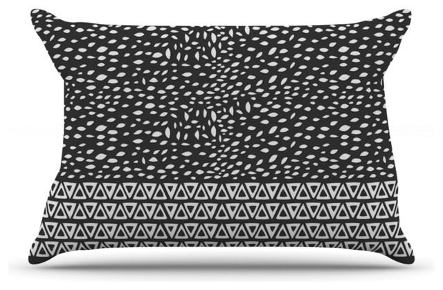 White Design Pillow Case: Pom Graphic Design