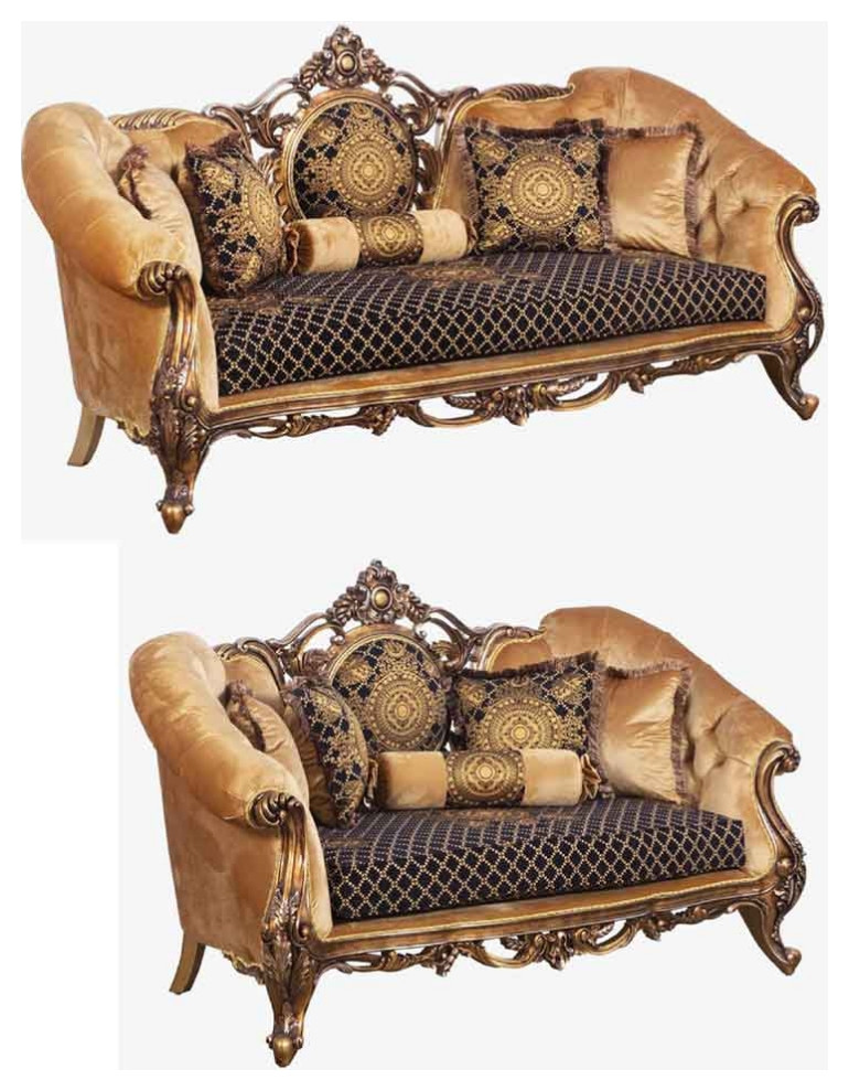 European Furniture Rosella 2 Piece Luxury Sofa Set Victorian Living Room Furniture Sets By Greatfurnituredeal Houzz