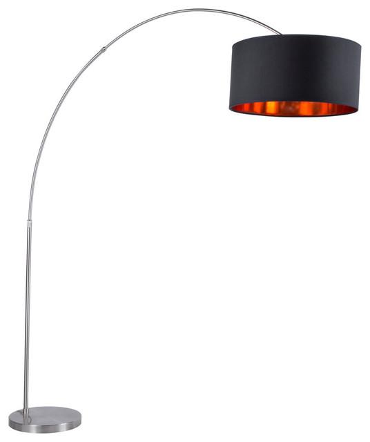 Floor Lamp With Satin Nickel Base