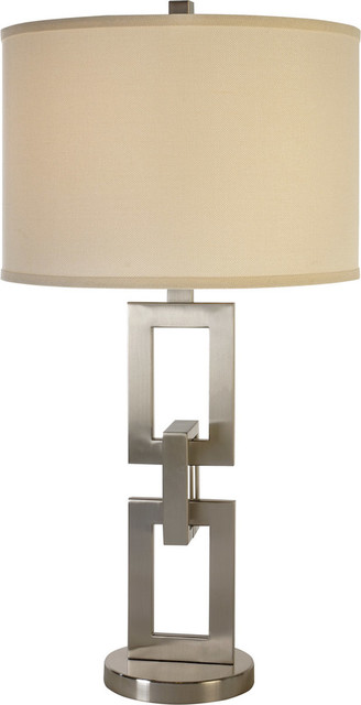 Linque 1 light table lamp in brushed nickel transitional table lamps
