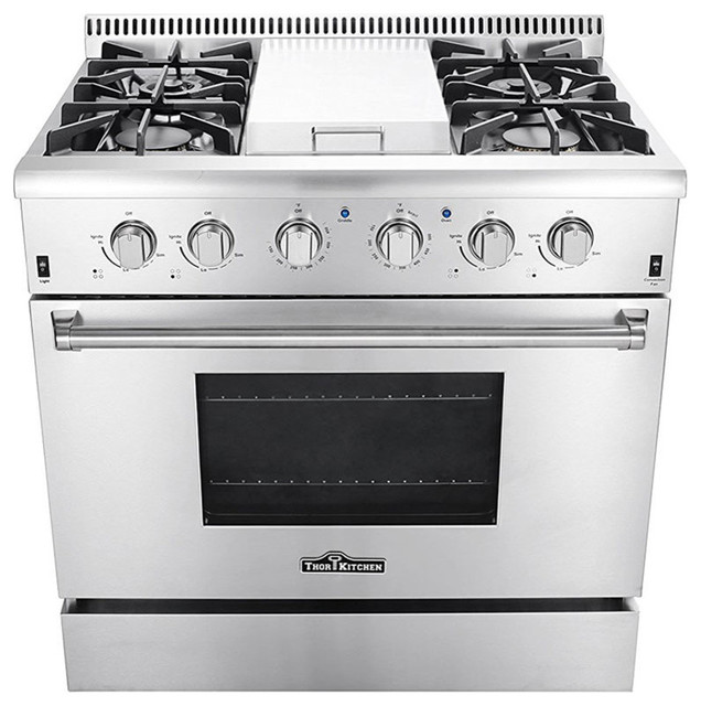 Thor Gas Range With 4 Burners Griddle