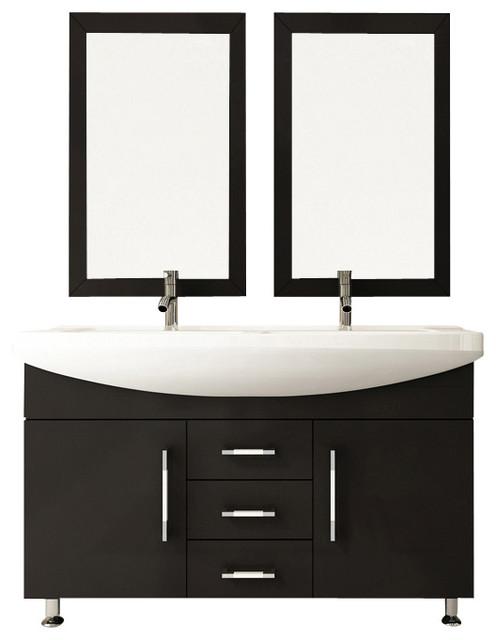 "48"" celine double sink modern bathroom vanity furniture cabinet"