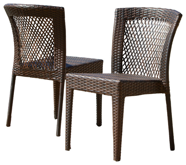 Dana Point Outdoor Wicker Chairs Set Of 2 Tropical Outdoor