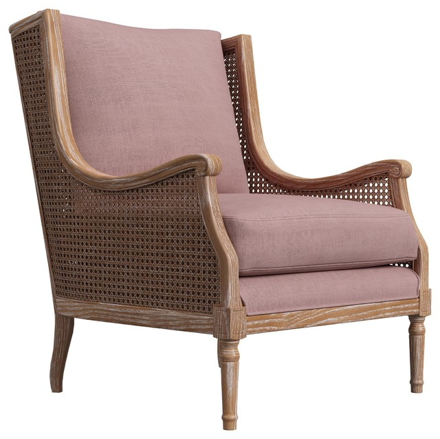 Peoria Wingback Rattan Accent Chair