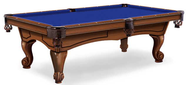 Hainsworth Elite Pro 7u0027 Euro Blue Pool Table Cloth Traditional Game Tables