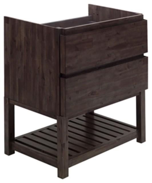 "Fresca Formosa 35"" Floor Standing Open Bottom Modern Bathroom Cabinet"