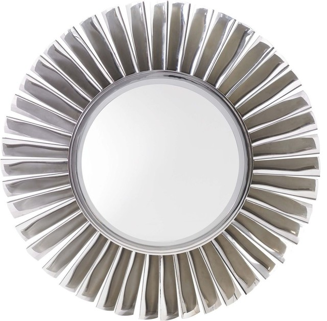 Lexington mirage fontaine round mirror contemporary Modern round mirror